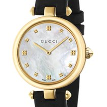 Gucci Diamantissima Mother Of Pearl Dial Leather 32MM Women's...