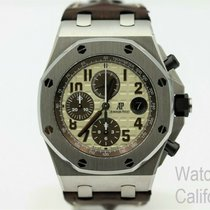Audemars Piguet Royal Oak Offshore Chronograph pre-owned 42mm Chronograph Date Year Leather