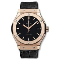Hublot Red gold Automatic Black No numerals 45mm new Classic Fusion 45, 42, 38, 33 mm