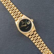 Rolex Datejust Or jaune 36mm Noir Sans chiffres