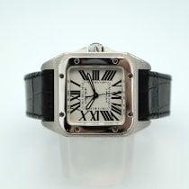 Cartier Santos 100 Сталь Cеребро Римские