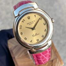 Rolex Cellini pre-owned 33mm Champagne Leather