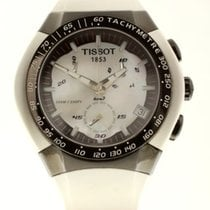 Tissot Chronograaf 45mm Quartz 2019 nieuw T-Race Touch Parelmoer