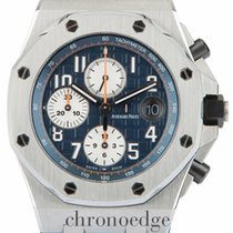 Audemars Piguet Royal Oak Offshore Chronograph pre-owned 42mm Blue Chronograph Date Rubber