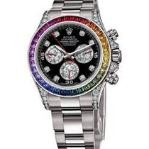 Rolex Used 116599 RBOW White Gold Daytona with Diamond Lugs -...