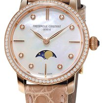 Frederique Constant Slimline Moonphase Rose gold Mother of pearl United States of America, New York, Brooklyn