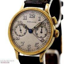 Longines Vintage Monopusher Chronograph Cal-13ZN 14k Yellow...