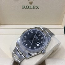 Rolex Datejust 41 Steel and White Gold Black Diamond Dial 126334