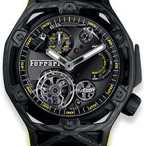 Hublot Carbon Manual winding Black new Techframe Ferrari Tourbillon Chronograph