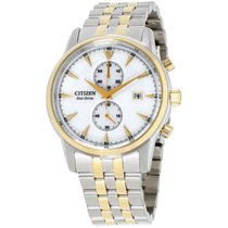 Citizen new Chronograph Luminescent Numerals Luminous indexes 43mm Steel Mineral Glass