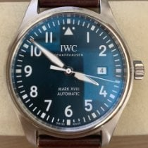 IWC Steel Automatic Blue Arabic numerals 40mm pre-owned Pilot Mark