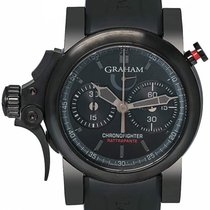 Graham Stahl 46mm Automatik Chronofighter neu