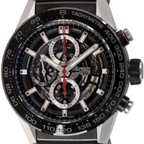 TAG Heuer Carrera Calibre HEUER 01 pre-owned 45mm Chronograph Date Tachymeter Rubber