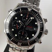 Omega Seamaster Diver 300 M rabljen Crn Kronograf Datum, nadnevak Zeljezo