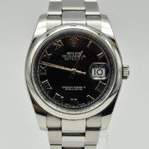 Rolex (ロレックス) Datejust ステンレス 36mm ブラック ローマインデックス