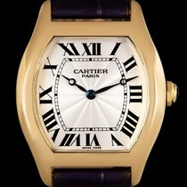 Cartier Tortue Or jaune 33mm Argent Romains