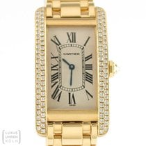 Cartier Uhr Tank American Gold Diamonds Ref. 1720 Revision