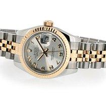 Rolex Lady-Datejust Or/Acier 26mm Argent Arabes