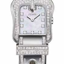 Fendi B. White Mother of Pearl Dial Ladies Diamond Watch