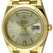 Rolex : Day-Date 40 President :  228238 :  18k Gold : silver...