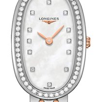 Longines Steel Quartz Mother of pearl 18.9mm new Symphonette