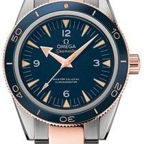 Omega Titanium Automatic Blue Arabic numerals 41mm new Seamaster 300