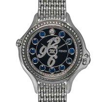 Fendi Crazy Carats Black Dial Diamond Quartz Ladies Watch –...