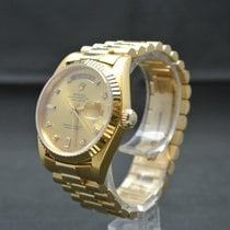 Rolex Day-Date 18238 President Factory Diamant Dial  B+P