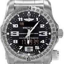 Breitling Emergency nuevo Cuarzo Reloj con estuche y documentos originales E7632522-BC02-159E BREITLING PROFESSIONAL EMERGENCY Titanio