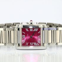 Cartier Tank Française lady steel quartz full set fashion dial