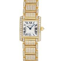 Cartier Tank Francaise Ladies in 18k Yellow Gold, Full Diamond...