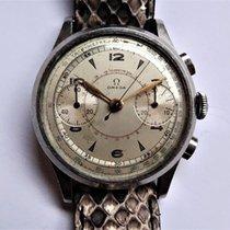 Omega Chronograaf 38,5mm Handopwind 1946 tweedehands Zilver
