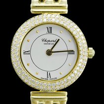 Chopard Happy Diamonds Geelgoud 20mm Wit Romeins