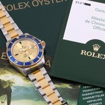 Rolex Submariner Date Золото/Cталь 40mm Цвета шампань