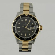 Rolex SUBMARİNER STEEL & GOLD BLACK DİAL