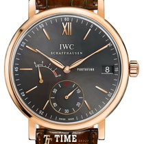IWC Portofino Hand-Wound Red gold 45mm Grey Roman numerals
