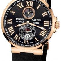 Ulysse Nardin Marine Chronometer 43mm Pозовое золото 43mm Чёрный Римские Россия, Moscow