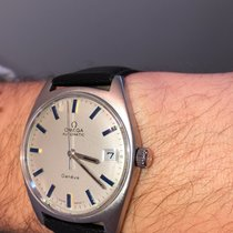 Omega Genève Steel 37mm Silver No numerals