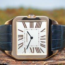 Cartier neu Handaufzug 35mm Roségold Glas