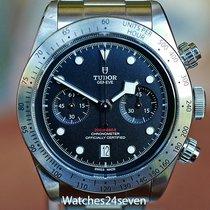 Tudor Black Bay Chrono pre-owned Black Chronograph Date Tachymeter Steel