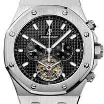 Audemars Piguet Royal Oak Tourbillon Acero 44mm Negro Sin cifras