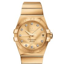Omega Yellow gold Automatic Champagne 38mm new Constellation Men