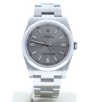 Rolex Oyster Perpetual 36 pre-owned 36mm Silver Date Steel