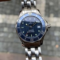 Omega Seamaster Diver 300 M pre-owned 28mm Blue Date Steel