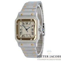 Cartier Santos Galbée używany 29mm Biały Data Złoto/Stal