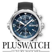 IWC Aquatimer Chronograph Acciaio 44mm Blu Italia, l'aquila