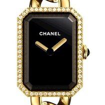 Chanel Yellow gold Quartz Black 16mm new Première