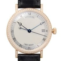 Breguet Classic 18 K Rose Gold With Diamonds Silver Automatic...