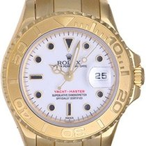 Rolex Lady Yacht - Master 18K Ladies Watch 69628 White Dial