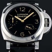 Panerai Luminor 1950 3 Days Power Reserve Staal 47mm Zwart Arabisch